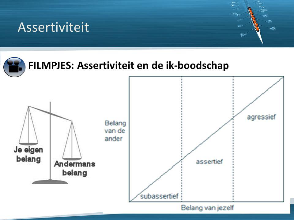 Copyright © 2013 ISW Limits nv. All rights reserved Assertiviteit FILMPJES: Assertiviteit en de ik-boodschap