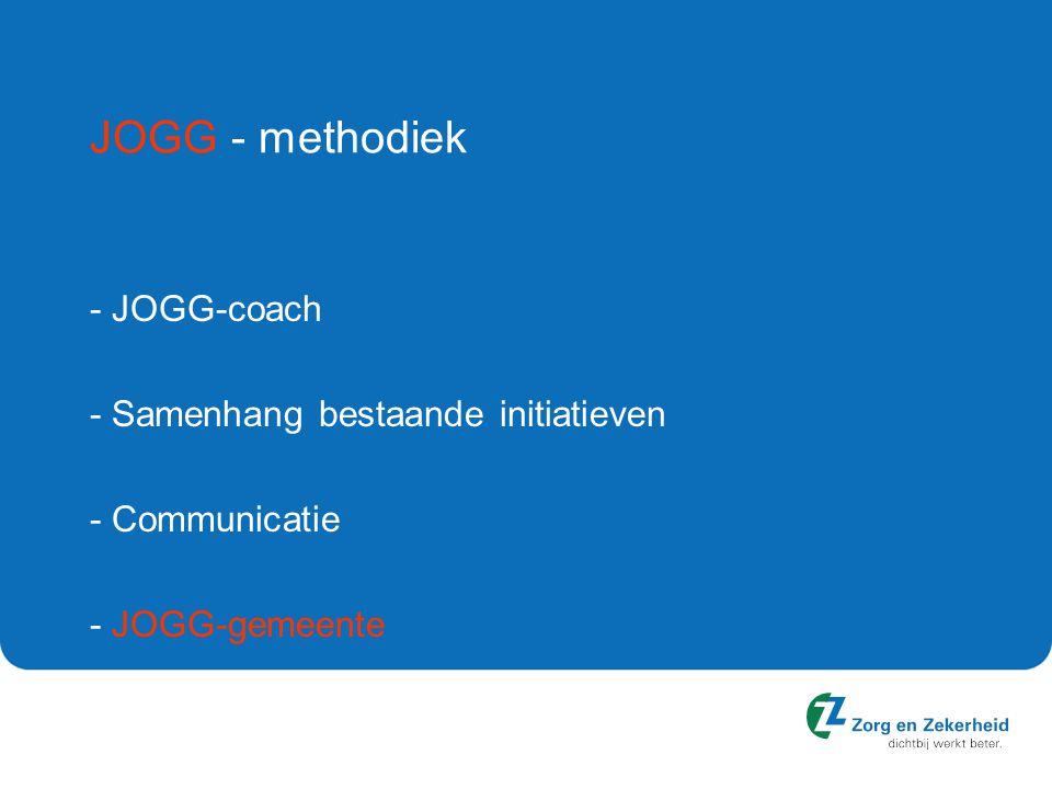 JOGG - methodiek - JOGG-coach - Samenhang bestaande initiatieven - Communicatie - JOGG-gemeente