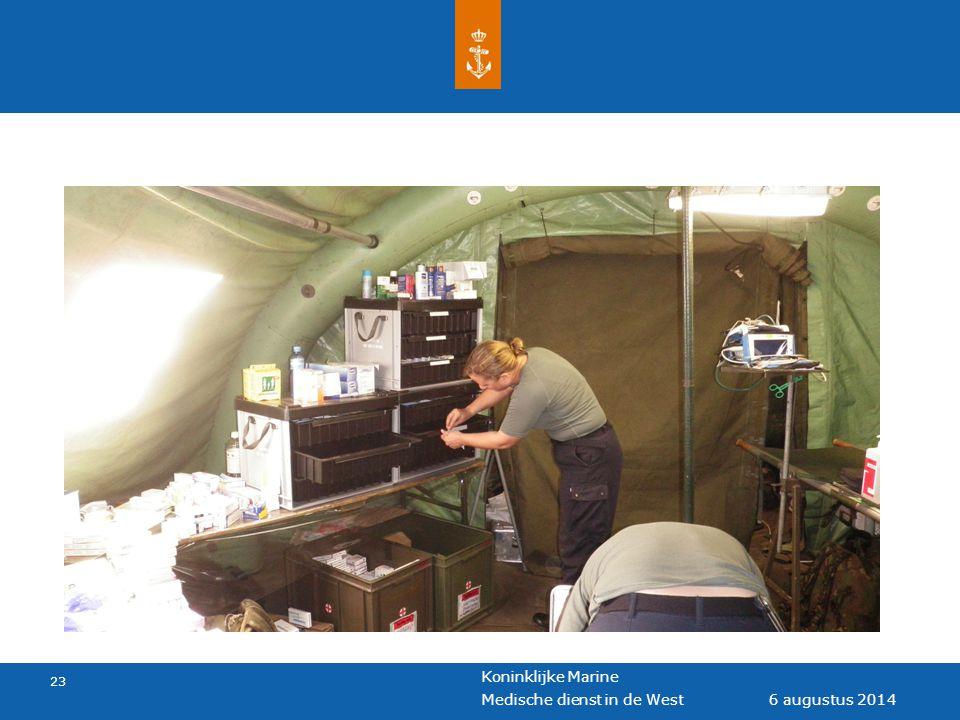 Koninklijke Marine 23 6 augustus 2014 Medische dienst in de West