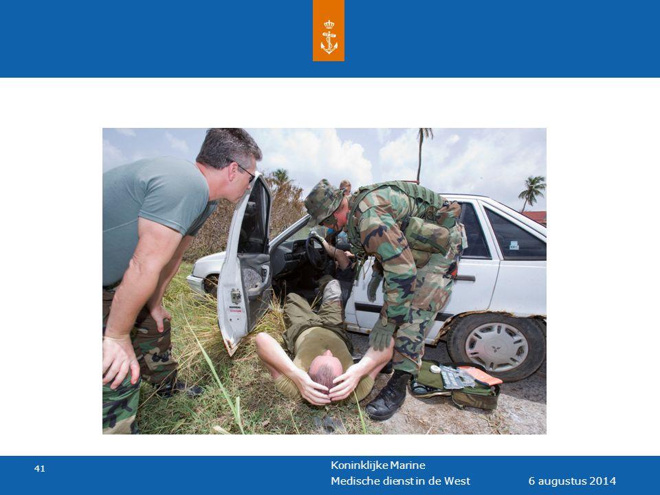 Koninklijke Marine 41 6 augustus 2014 Medische dienst in de West