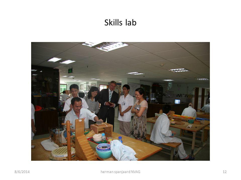 Skills lab 8/6/2014herman spanjaard NVAG12