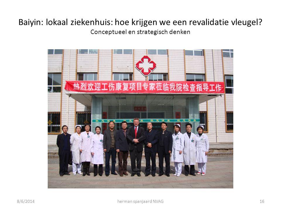 Baiyin: lokaal ziekenhuis: hoe krijgen we een revalidatie vleugel.