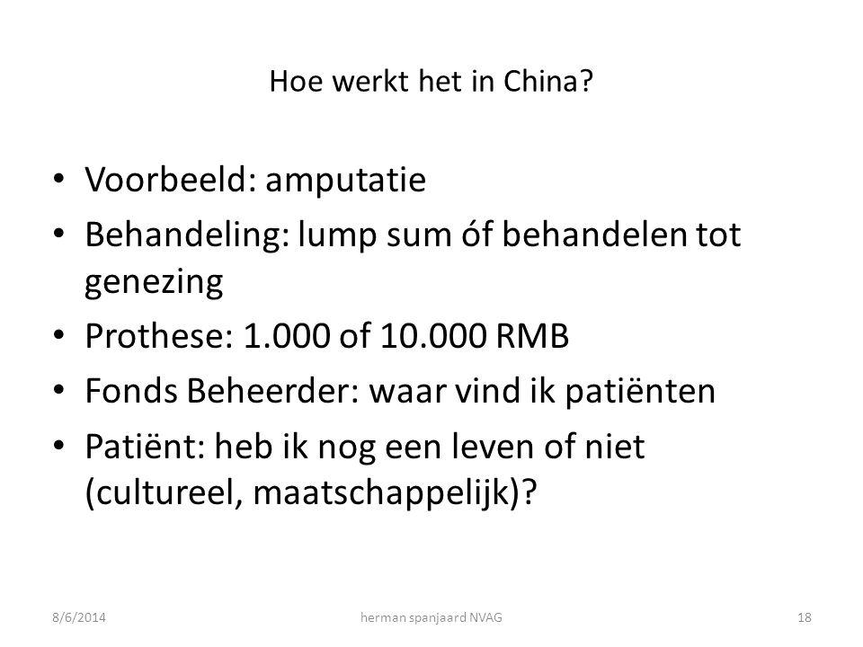 Hoe werkt het in China.