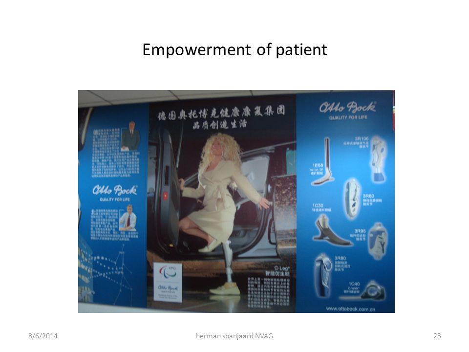 Empowerment of patient 8/6/2014herman spanjaard NVAG23
