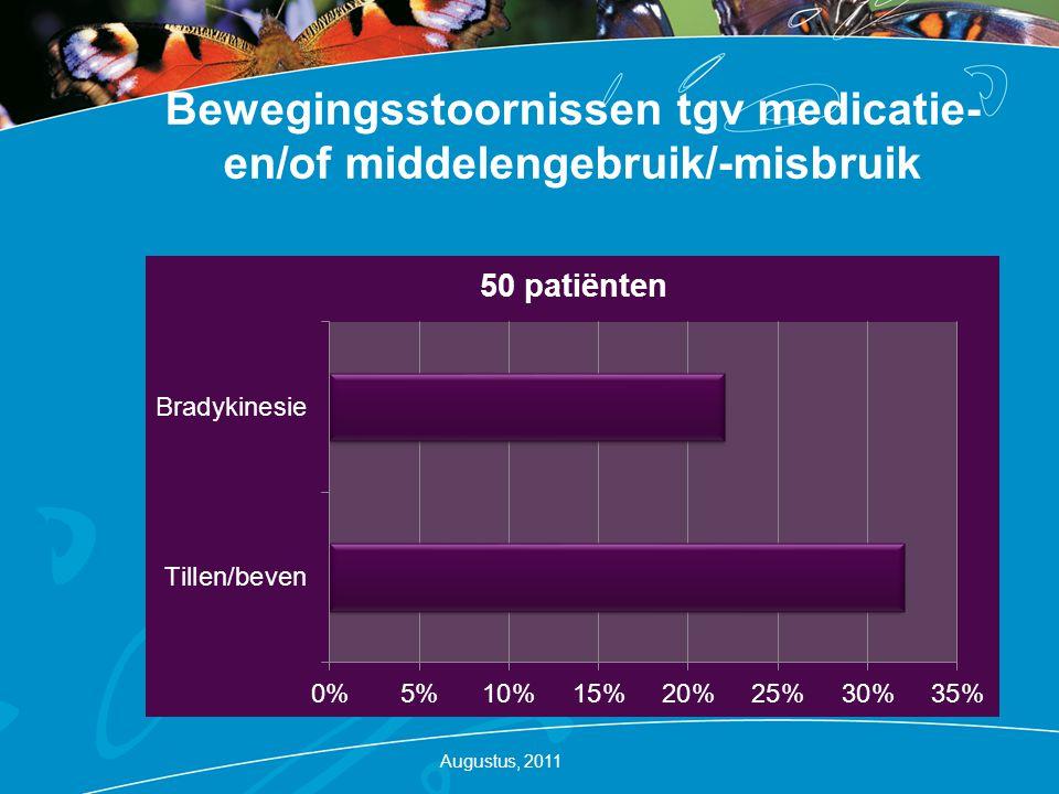 Bewegingsstoornissen tgv medicatie- en/of middelengebruik/-misbruik Augustus, 2011