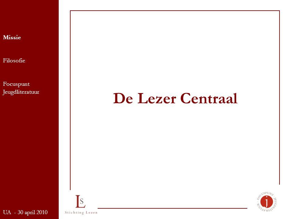 De Lezer Centraal Missie Filosofie Focuspunt Jeugdliteratuur UA - 30 april 2010