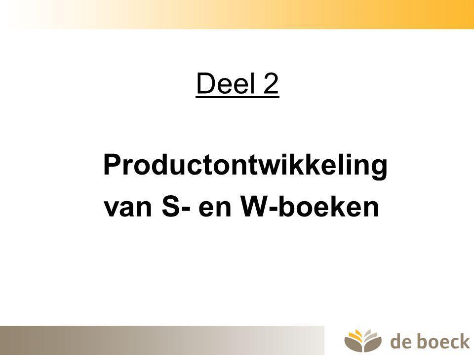 13 Deel 2 Productontwikkeling van S- en W-boeken