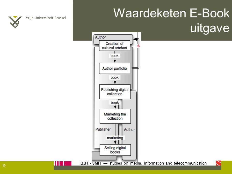 IBBT - SMIT — studies on media, information and telecommunication Waardeketen E-Book uitgave 15