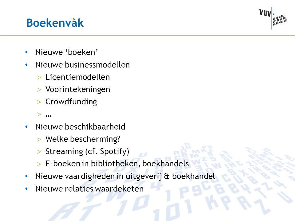 Boekenvàk Nieuwe 'boeken' Nieuwe businessmodellen > Licentiemodellen > Voorintekeningen > Crowdfunding > … Nieuwe beschikbaarheid > Welke bescherming?