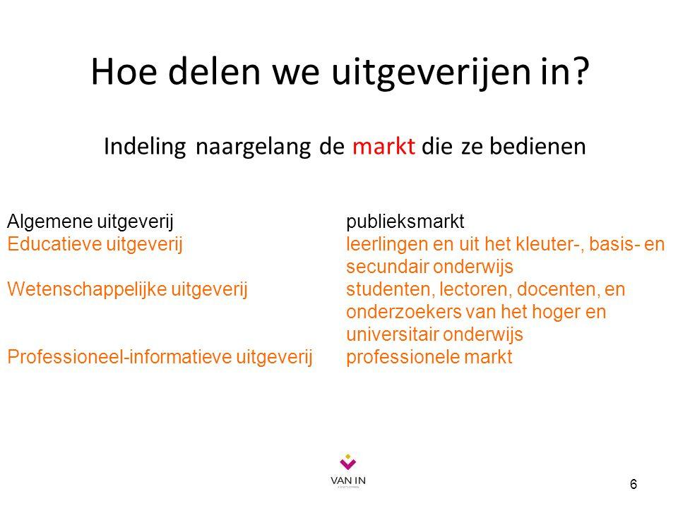 Organisaties 7 Vlaamse Uitgevers Vereniging (VUV) verdedigt als vakvereniging de belangen van uitgevers van algemene boeken (fictie en non-fictie), educatieve, wetenschappelijke en informatieve uitgaven.