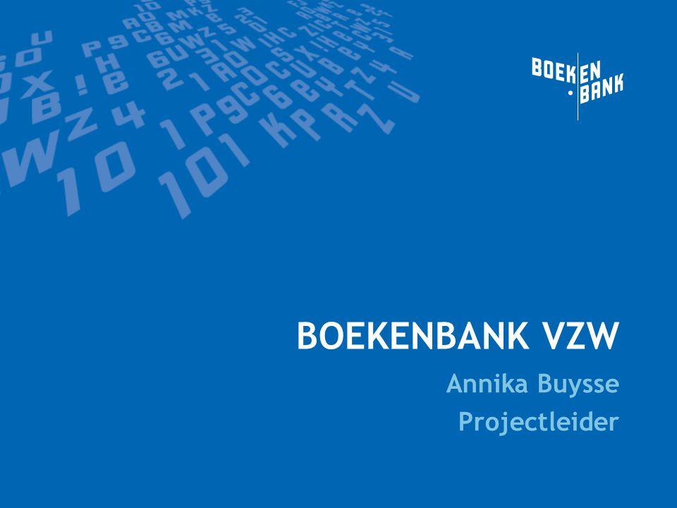 BOEKENBANK VZW Annika Buysse Projectleider