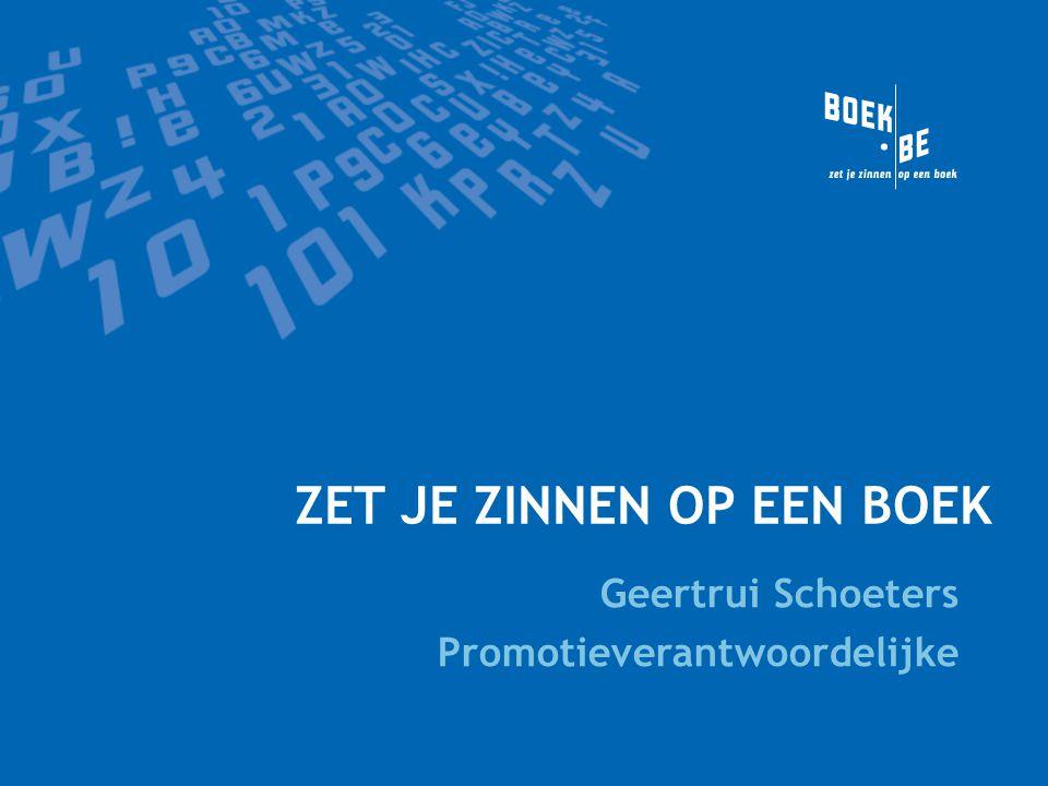 Inhoud presentatie Algemeen >Wat is Boek.be.>Wat is collectieve boekpromotie.