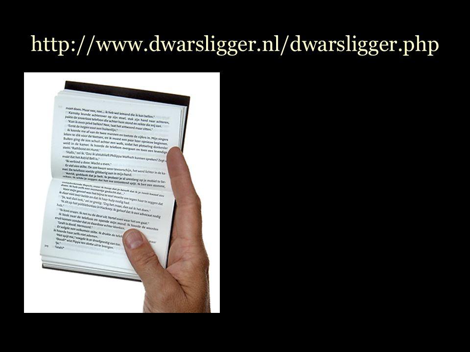 http://www.dwarsligger.nl/dwarsligger.php