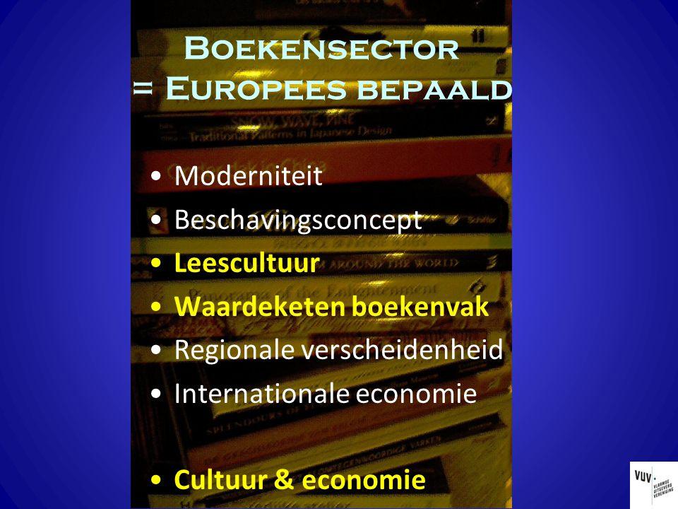 Moderniteit Beschavingsconcept Leescultuur Waardeketen boekenvak Regionale verscheidenheid Internationale economie Cultuur & economie Boekensector = E