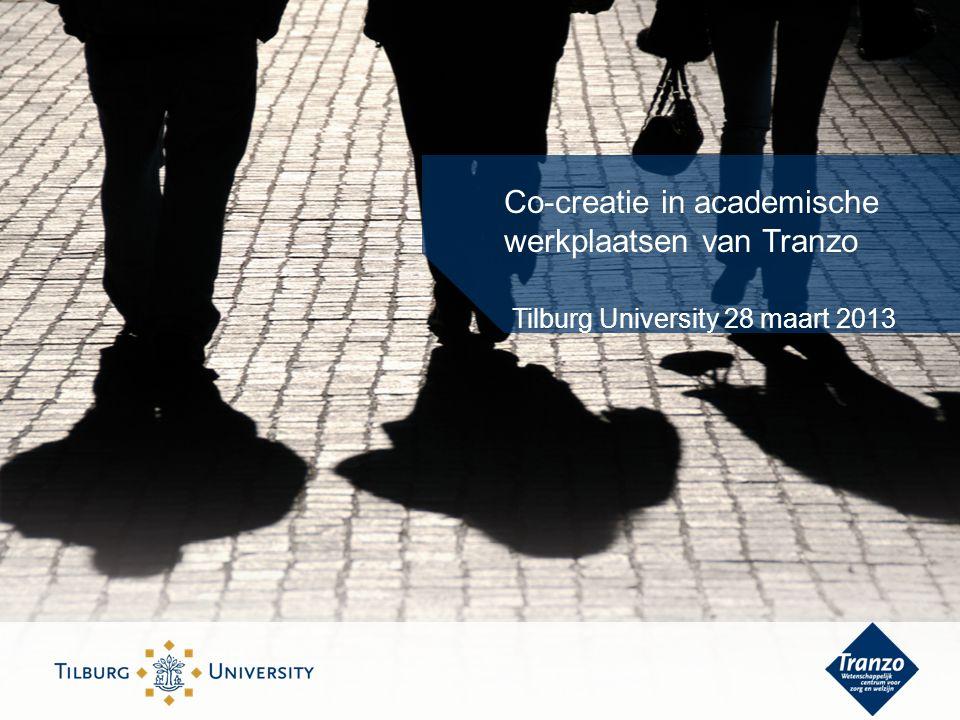 Co-creatie in academische werkplaatsen van Tranzo Tilburg University 28 maart 2013