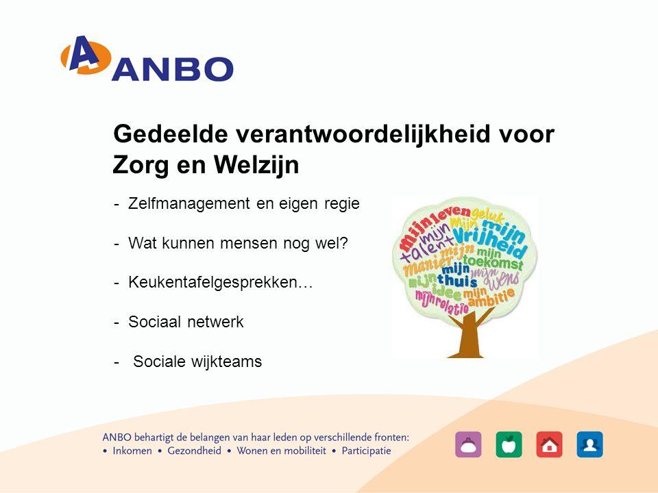 Gedeelde verantwoordelijkheid voor Zorg en Welzijn - Zelfmanagement en eigen regie - Wat kunnen mensen nog wel.