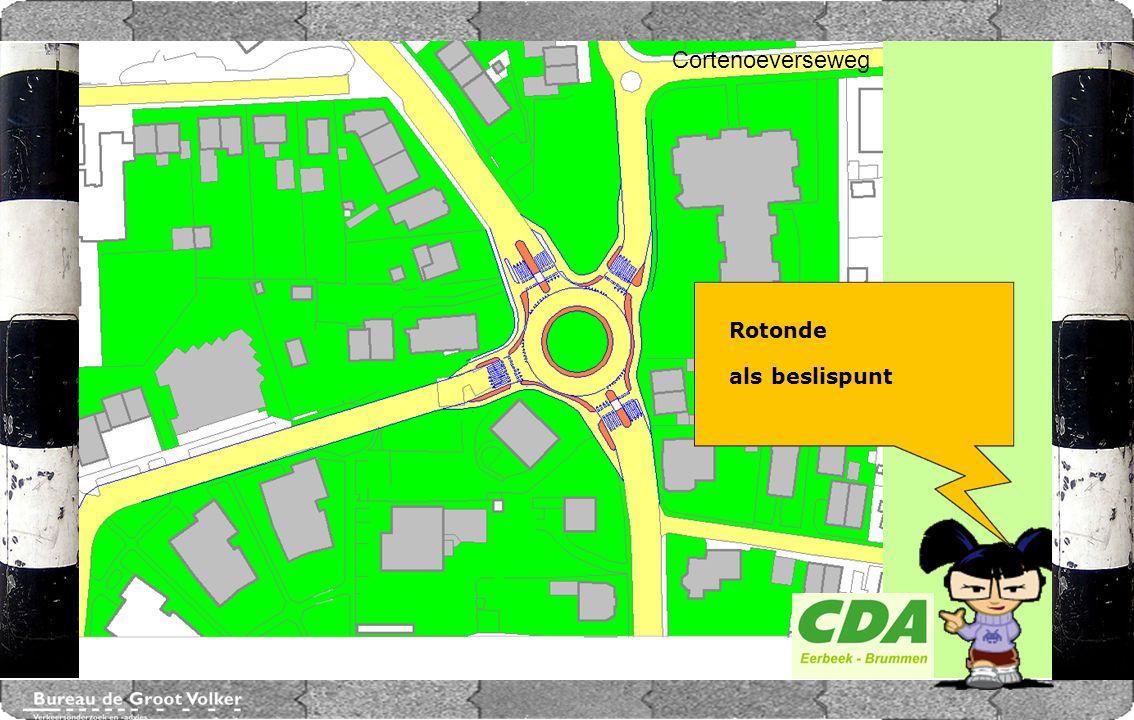 CENTRUMPLAN BRUMMEN Rotonde als beslispunt Cortenoeverseweg