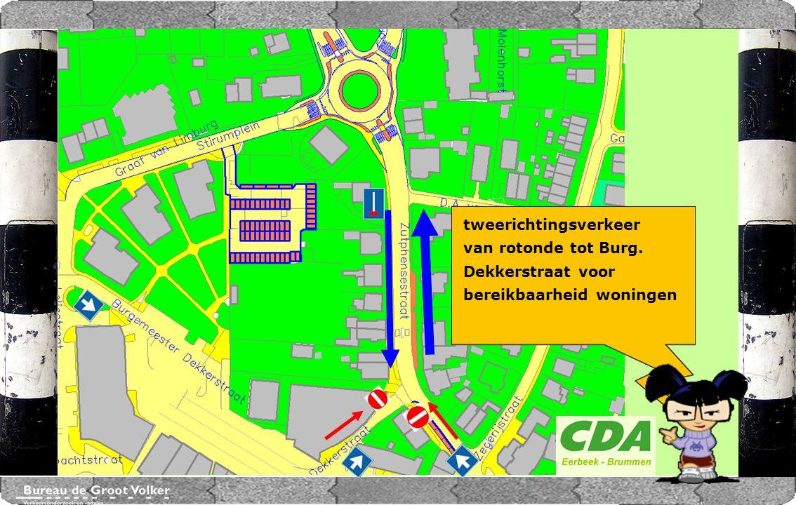 CENTRUMPLAN BRUMMEN Marktplein tweerichtingsverkeer van rotonde tot Burg. Dekkerstraat voor bereikbaarheid woningen