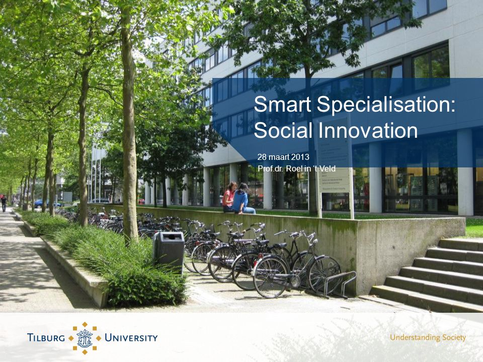 Smart Specialisation: Social Innovation 28 maart 2013 Prof.dr. Roel in 't Veld