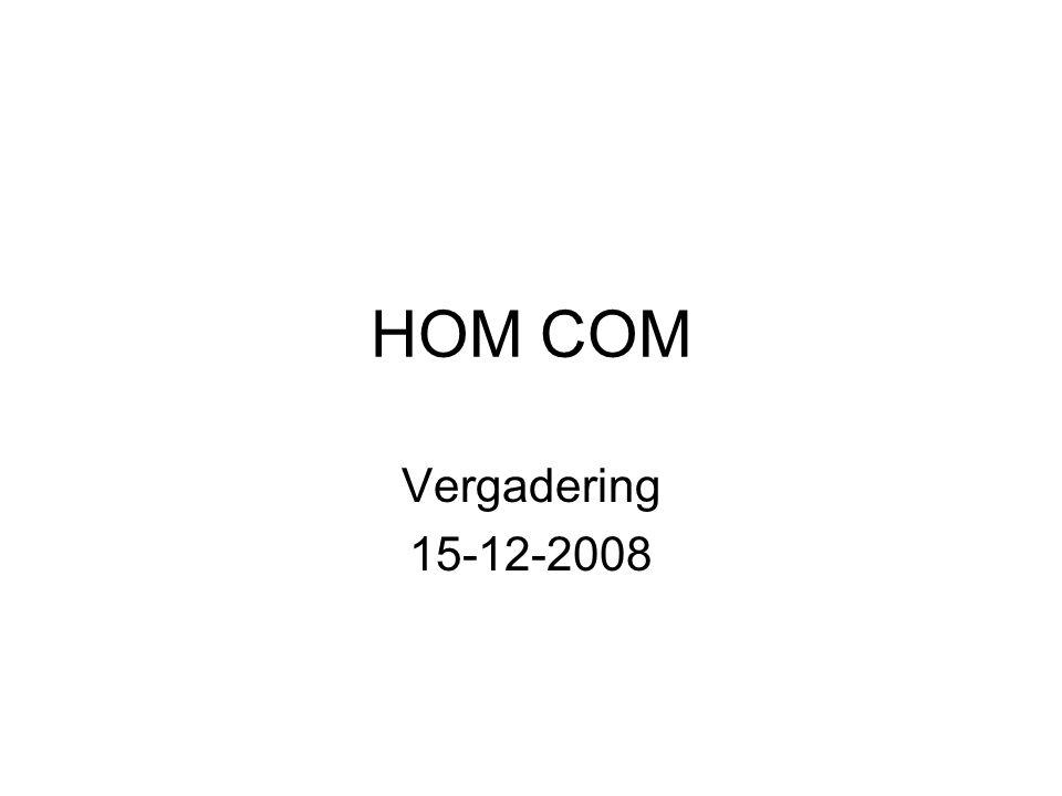 HOM COM Vergadering 15-12-2008