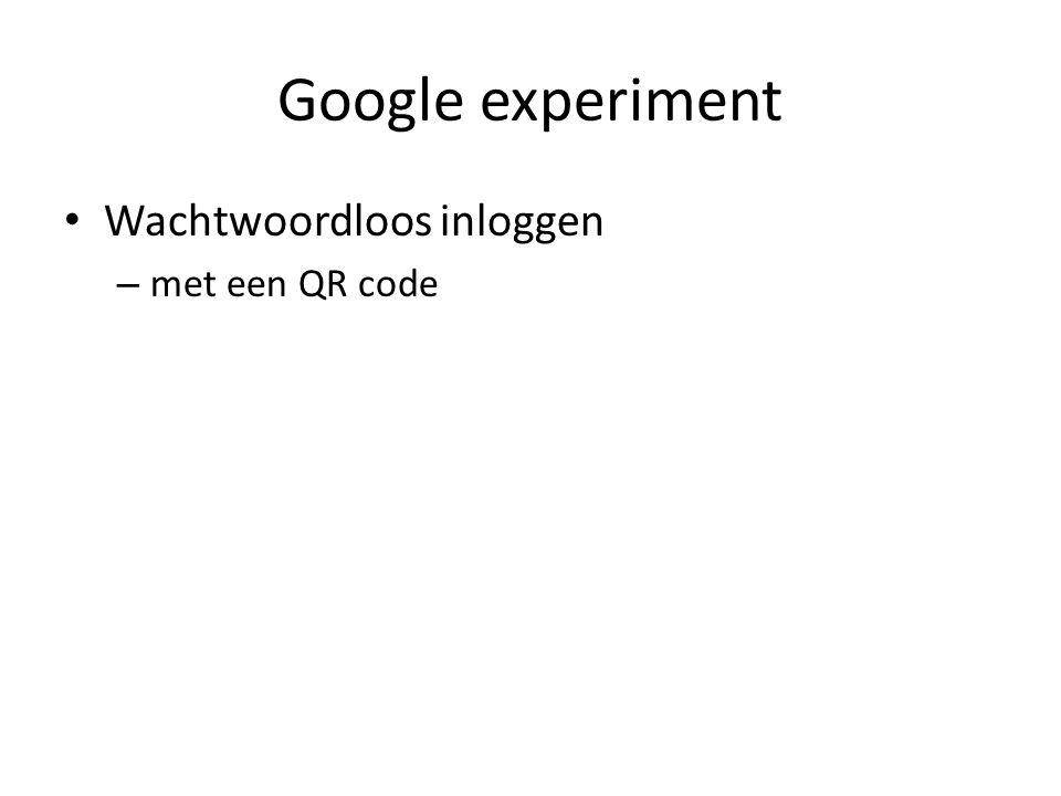 Google experiment Wachtwoordloos inloggen – met een QR code