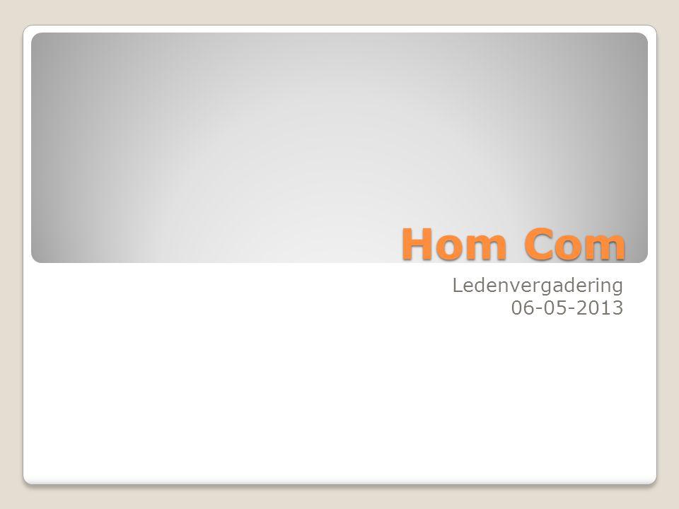 Hom Com Ledenvergadering 06-05-2013