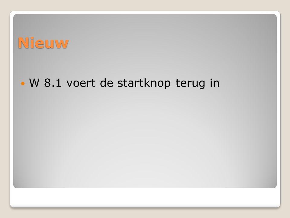 Nieuw W 8.1 voert de startknop terug in