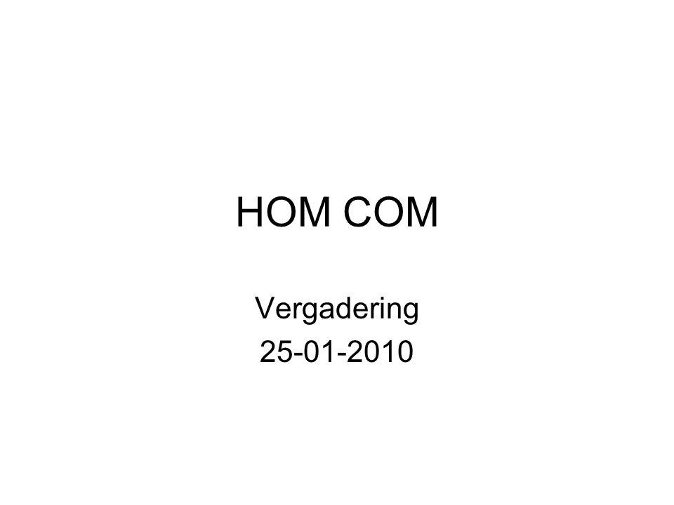 HOM COM Vergadering 25-01-2010