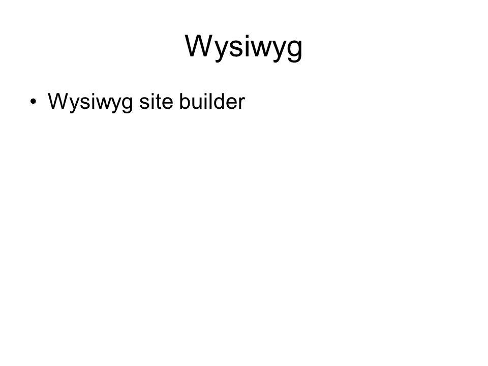 Wysiwyg Wysiwyg site builder