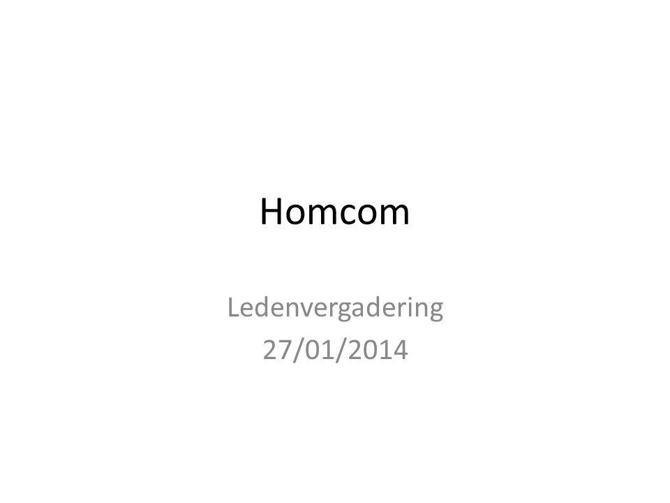 Homcom Ledenvergadering 27/01/2014