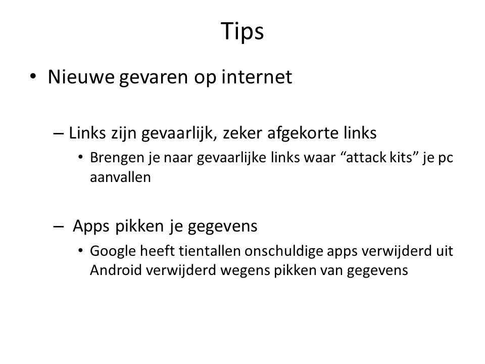 """Tips Nieuwe gevaren op internet – Links zijn gevaarlijk, zeker afgekorte links Brengen je naar gevaarlijke links waar """"attack kits"""" je pc aanvallen –"""