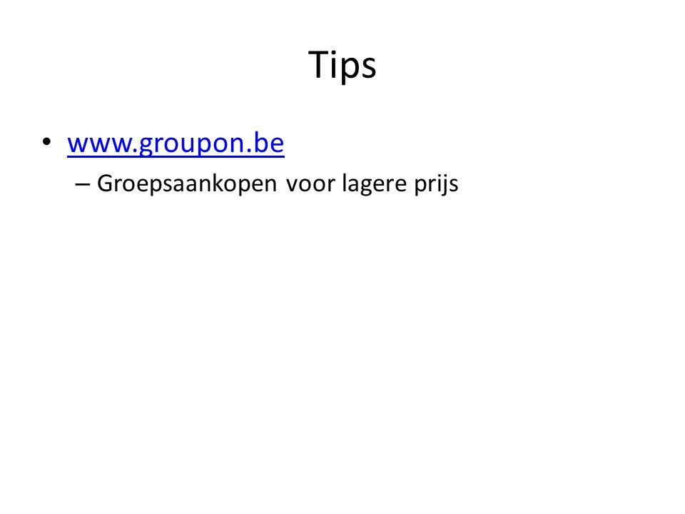 Tips www.groupon.be – Groepsaankopen voor lagere prijs