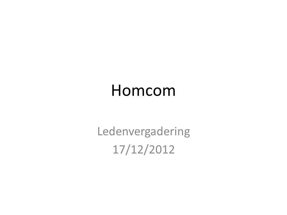 Homcom Ledenvergadering 17/12/2012