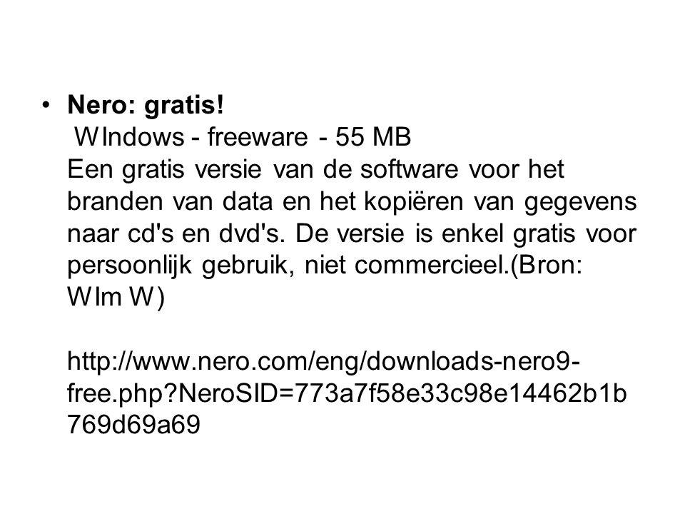 Nero: gratis.
