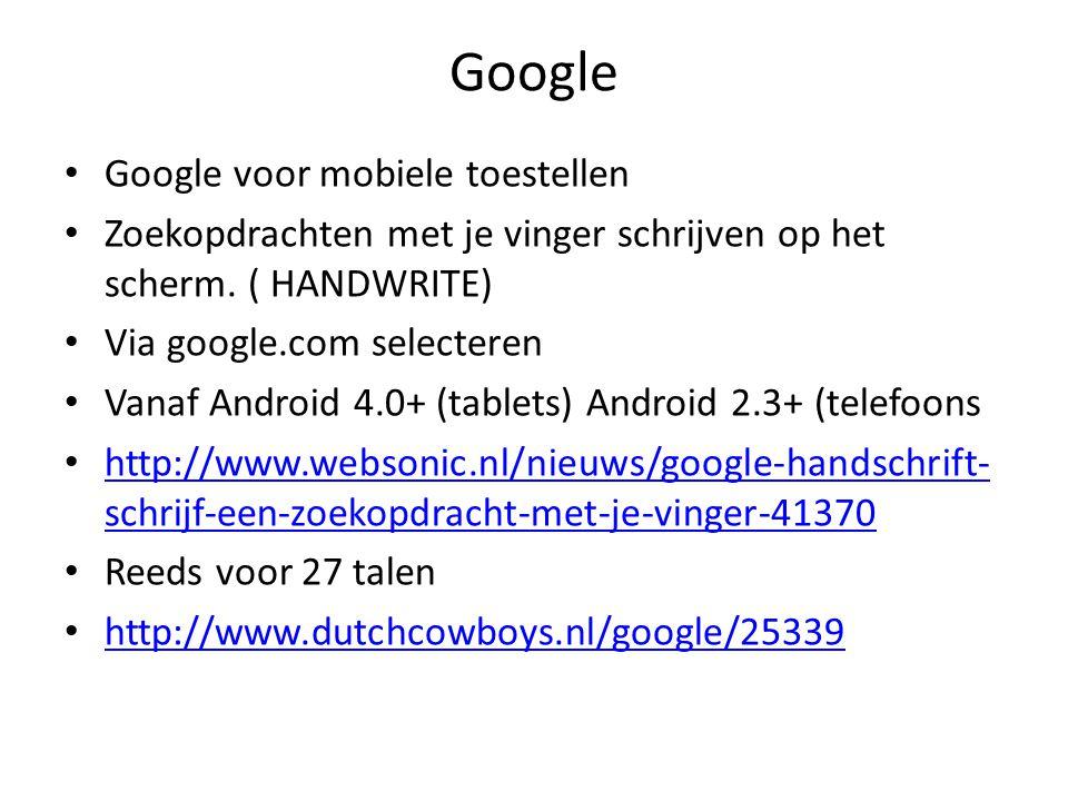 Google Google voor mobiele toestellen Zoekopdrachten met je vinger schrijven op het scherm.