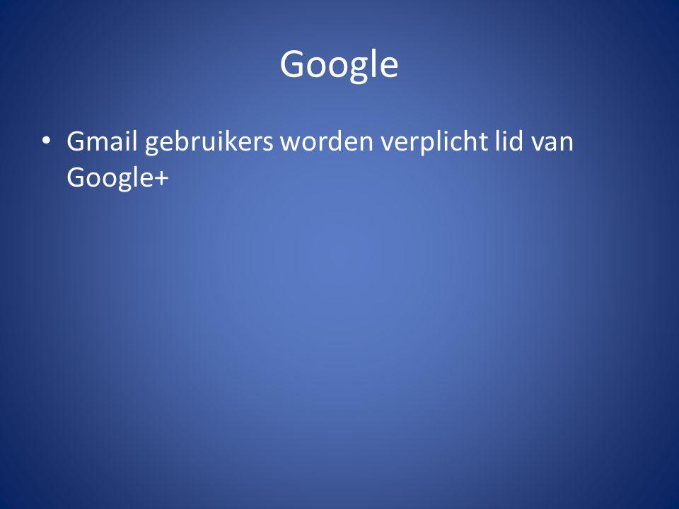 Google Gmail gebruikers worden verplicht lid van Google+
