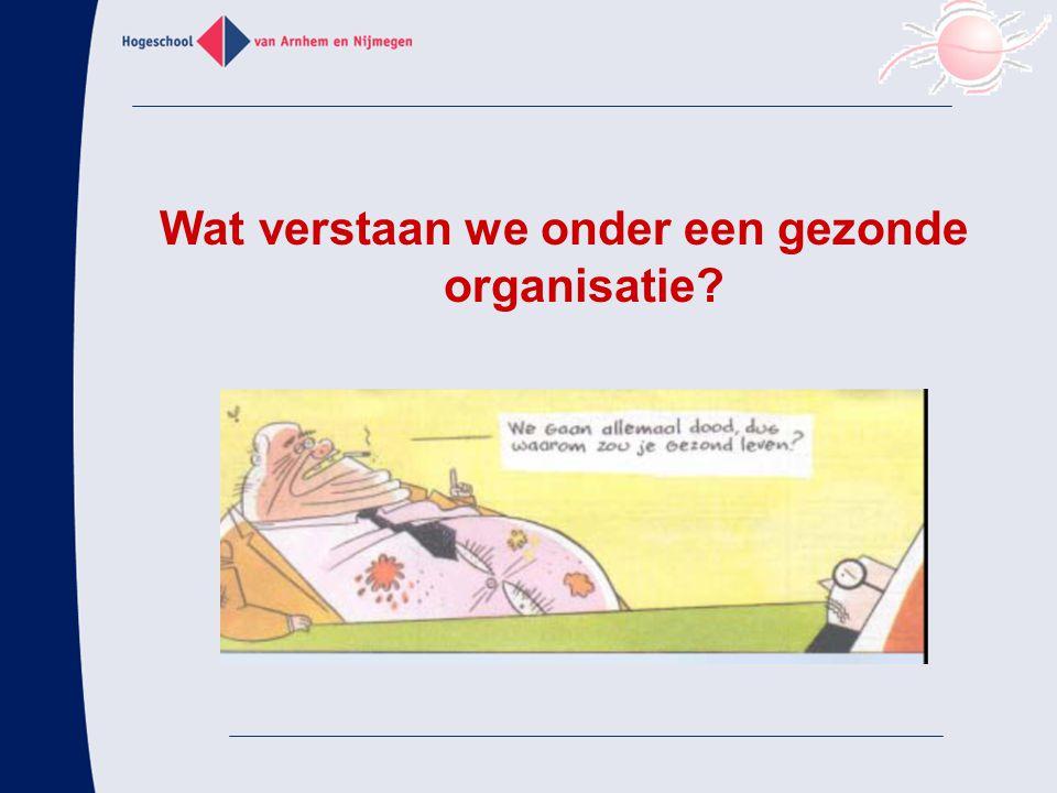 Wat verstaan we onder een gezonde organisatie?