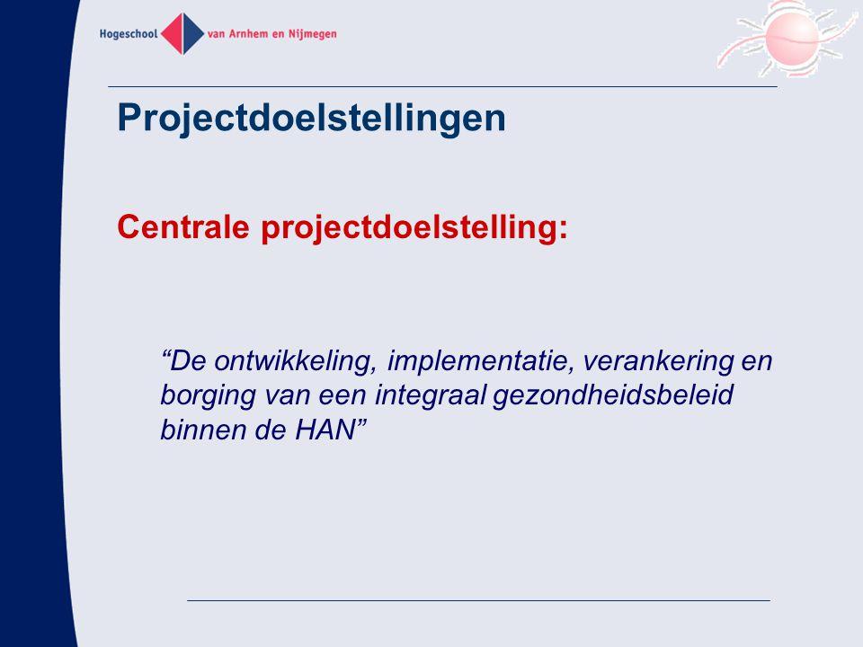 Projectdoelstellingen Subdoelstellingen: 1.Creëren van organisatorische randvoorwaarden voor IGM.