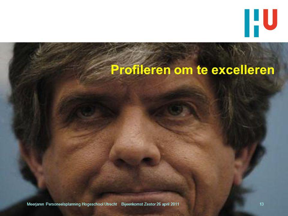 Profileren om te excelleren Meerjaren Personeelsplanning Hogeschool Utrecht Bijeenkomst Zestor 26 april 201113