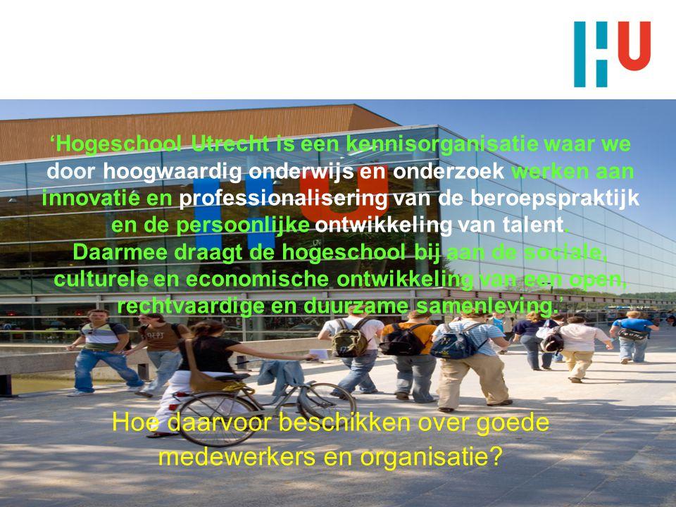 Meerjaren Personeelsplanning Hogeschool Utrecht Bijeenkomst Zestor 26 april 2011219 november 2009 Premaster P&A2Paul Dijkstra Stafdienst P&O Hogeschool Utrecht Hoe daarvoor beschikken over goede medewerkers en organisatie.