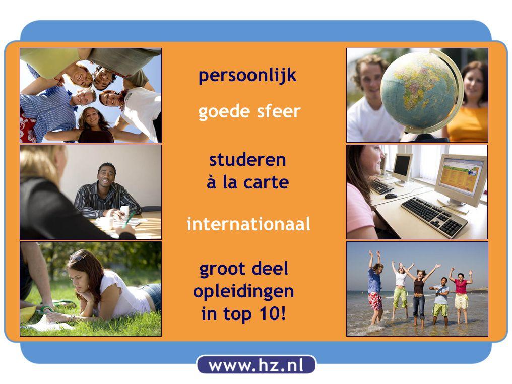 goede sfeer studeren à la carte persoonlijk internationaal groot deel opleidingen in top 10!