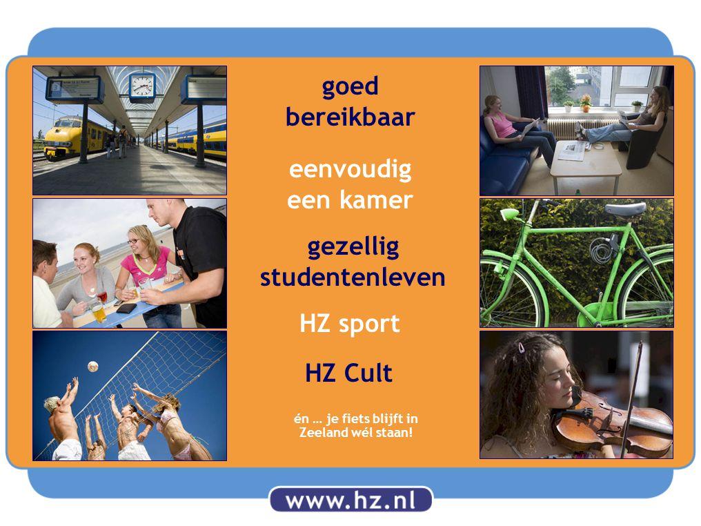 gezellig studentenleven HZ Cult goed bereikbaar eenvoudig een kamer HZ sport én … je fiets blijft in Zeeland wél staan!