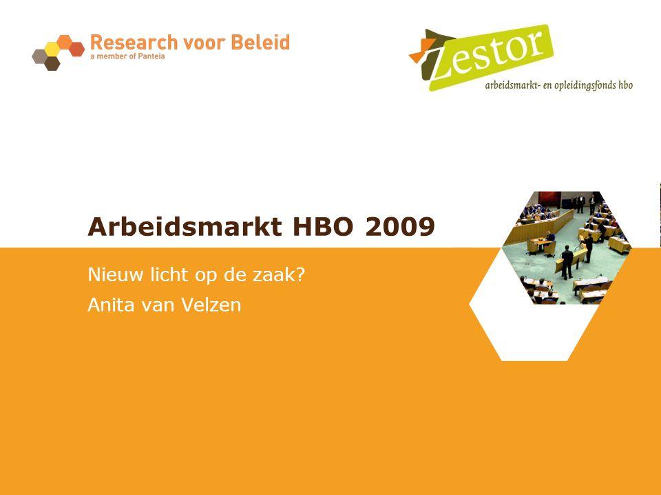 Arbeidsmarkt HBO 2009 Nieuw licht op de zaak? Anita van Velzen