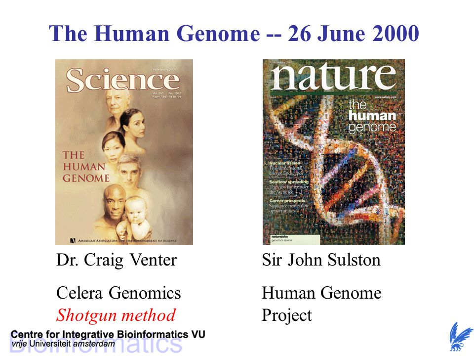 The Human Genome -- 26 June 2000 Dr.
