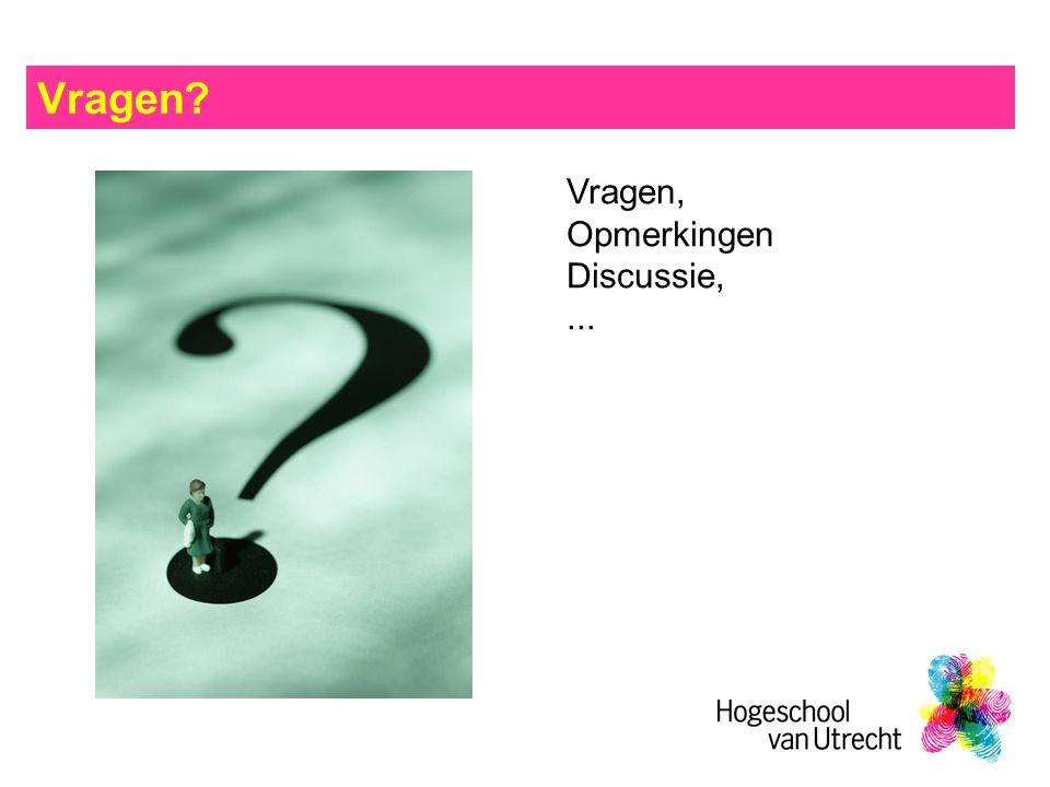 Vragen Vragen, Opmerkingen Discussie,...