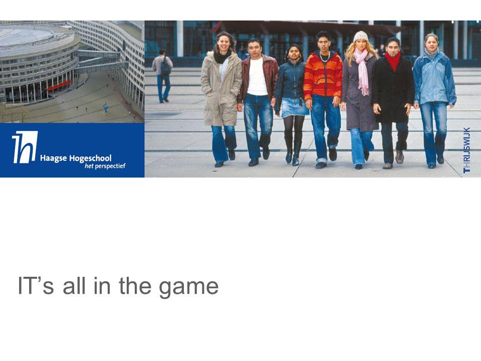 ICT Dienstverlening, een ervaringsvak ervaren Even voorstellen…… Wij werken beide bij de afdeling informatica van de HHS  Rob de Ruiter, zelfstandig consultant, ruime bedrijfservaring in ICT, daarnaast part time docent  Peter Gerritsen, 17 jaar bedrijfservaring in ICT servicemanagement, thans teamleider deeltijd I&BI We hebben nóg een pet op……  We vonden deze games dermate interessant voor het onderwijs dat we een bedrijf hebben opgezet dat deze games toegankelijk maakt voor het onderwijs