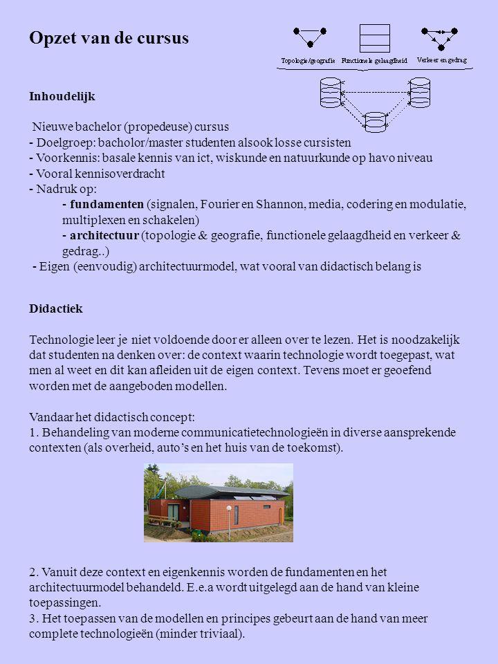 Opzet van de cursus Inhoudelijk Nieuwe bachelor (propedeuse) cursus - Doelgroep: bacholor/master studenten alsook losse cursisten - Voorkennis: basale