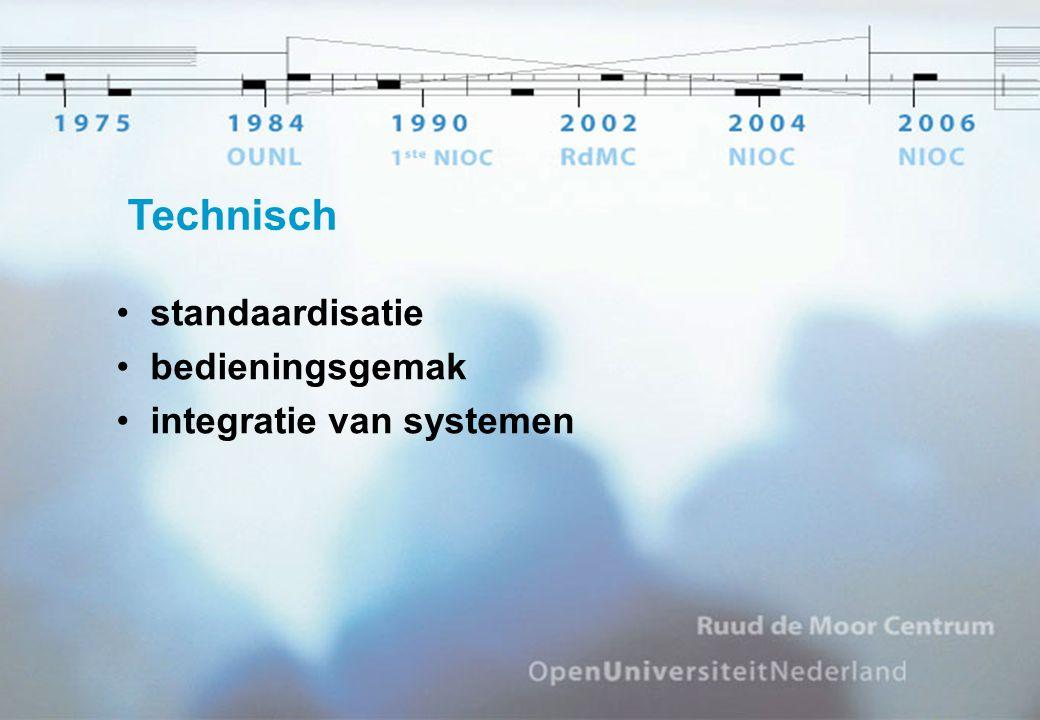Technisch standaardisatie bedieningsgemak integratie van systemen