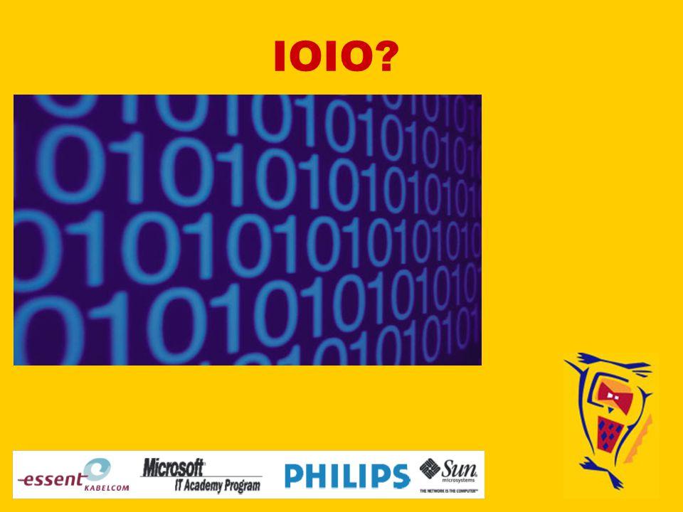 Wie zitten er achter IOIO? Bert Zwaneveld Hans Frederik