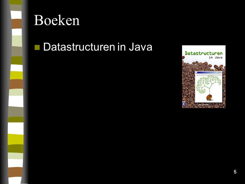 5 Boeken Datastructuren in Java